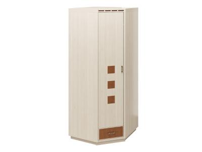 Шкаф угловой Кэри голд млечный дуб 730х730х2254