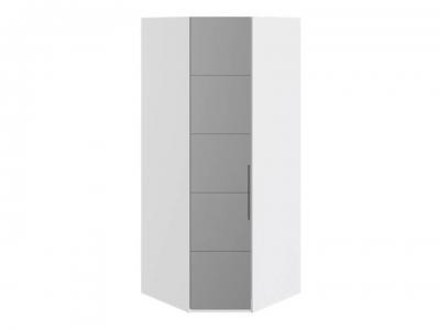 Шкаф угловой с 1 зерк. левой дверью Наоми СМ-208.07.07 L Белый глянец
