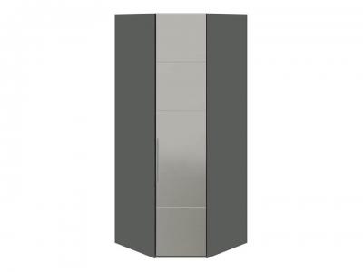 Шкаф угловой с 1 зерк. правой дверью Наоми СМ-208.07.07 R Серый, Джут