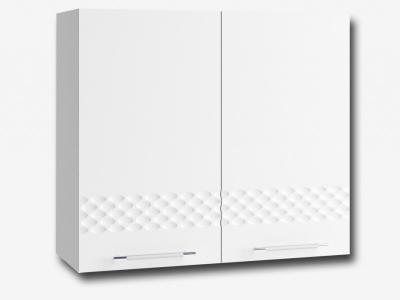Шкаф верхний 800мм П 700х800мм МДФ белый Капля