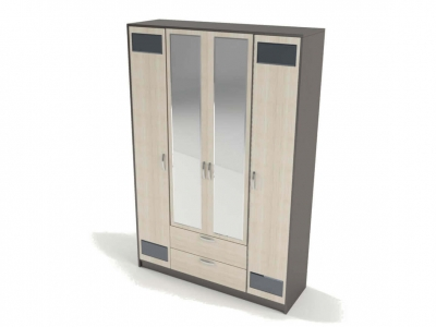 Шкаф 4-х створчатый с зеркалом Венера 2270х1500х450