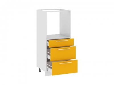 Шкаф комбинированный под быт. тех. с 3 ящиками КБ(3)3я_132(72)-60_3Я Ассорти Лимон