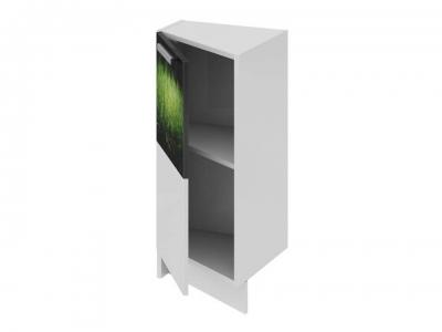 Шкаф напольный нестандартный торцевой левый НнТ_72-40(45)_1ДР(Б) Фэнтези Грасс
