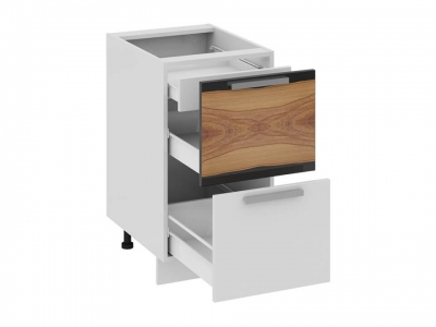 Шкаф напольный с 2 ящиками и 1 внутренним Н2я1_72-45_2Я Фэнтези Вуд