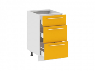 Шкаф напольный с 3 ящиками Н(3)3я_72-45_3Я Ассорти Лимон