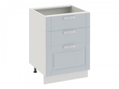 Шкаф напольный с 3 ящиками Н3я_72-60_3Я Скай Голубая