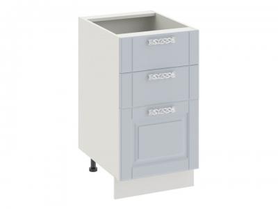 Шкаф напольный с 3 ящиками Н3я(Т)_72-45_3Я Скай Голубая