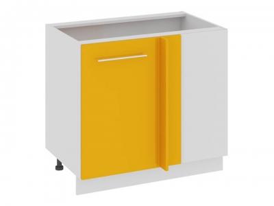 Шкаф напольный с планками для формирования угла Н_72-90_1ДРпУ Ассорти Лимон