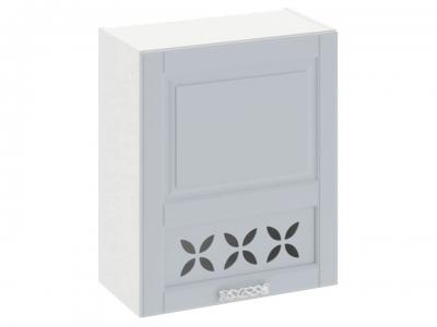 Шкаф навесной c декором правый В_72-60_1ДРД(R) Скай Голубая