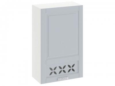 Шкаф навесной c декором правый В_96-60_1ДРД(R) Скай Голубая