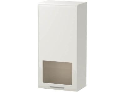 Шкаф навесной Офелия Белый - МДФ Топлёное молоко