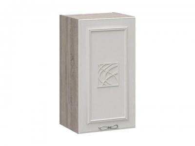 Шкаф навесной с декором В_72-40_1ДР(Д) Сабрина