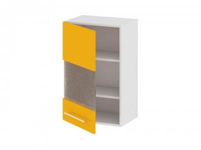 Шкаф навесной со стеклом левый В_72-45_1ДРс(А) Ассорти Лимон