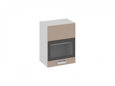 Шкаф навесной со стеклом правый В_60-45_1ДРс(Б) Бьюти Капучино