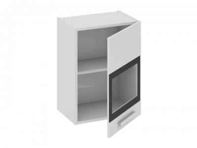 Шкаф навесной со стеклом правый В_60-45_1ДРс(Б) Фэнтези Белый универс