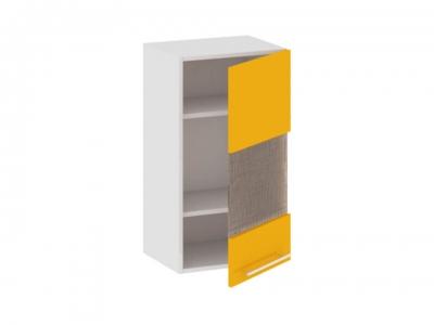 Шкаф навесной со стеклом правый В_72-40_1ДРс(Б) Ассорти Лимон