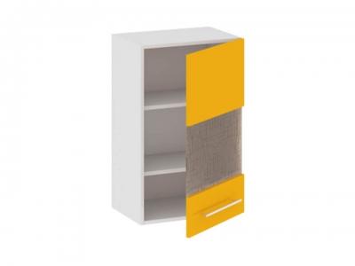 Шкаф навесной со стеклом правый В_72-45_1ДРс(Б) Ассорти Лимон