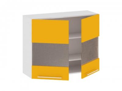 Шкаф навесной со стеклом В_72-90_2ДРс Ассорти Лимон