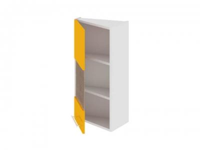Шкаф навесной торцевой со стеклом левый ВТ_72-40(45)_1ДРс(А) Ассорти Лимон
