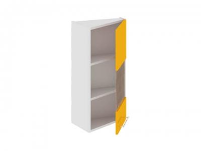 Шкаф навесной торцевой со стеклом правый ВТ_72-40(45)_1ДРс(Б) Ассорти Лимон
