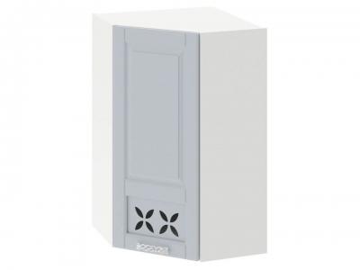 Шкаф навесной угловой 45 с декором ВУ45_96-(40) _1ДРД(L) Скай Голубая