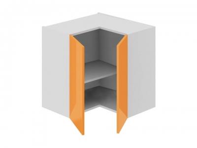 Шкаф навесной угловой 90 ВУ90_60_2ДР(ВУ) Бьюти Оранж