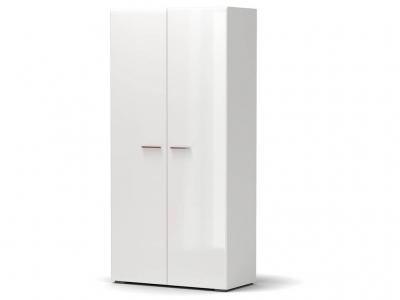 Шкаф Офелия 2-х Белый - МДФ Топлёное молоко