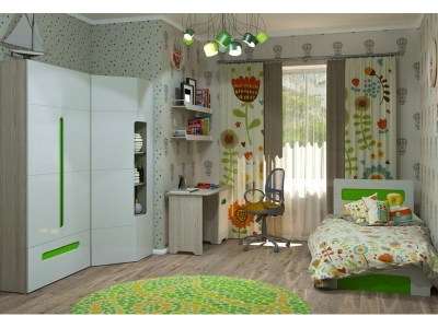 Детская Палермо-Юниор с зелеными вставками
