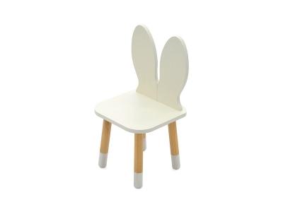 Детский стул Stumpa зайчик белый