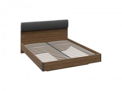 Двуспальная кровать Харрис тип 1 СМ-302.01.002 Дуб американский, Серебряный гранит