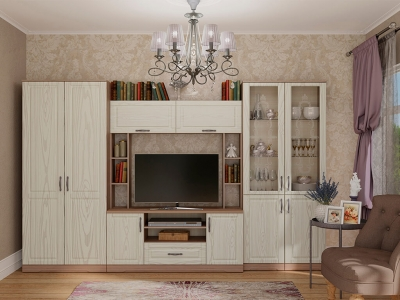 Гостиная Лаура №2 Винтаж - МДФ Серебряное дерево