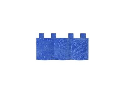Карман 1 Калейдоскоп 530х220 флок синий