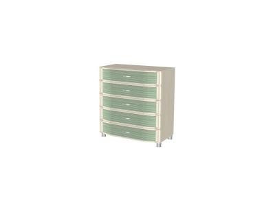 КМ-915 Комод 960х896х492 Дуб Беленый с зелеными вставками