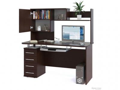 Компьютерный стол Сокол КСТ-105.1 c надстройкой Венге
