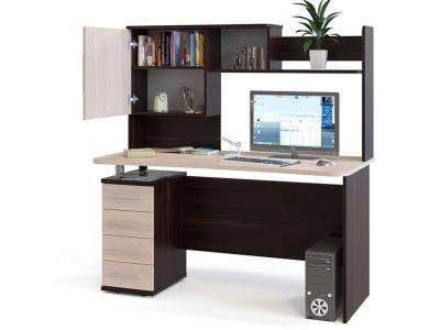 Компьютерный стол Сокол КСТ-105.1 c надстройкой Венге/Беленый дуб