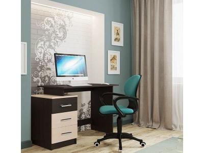 Компьютерный стол СВ-8 Дуб Венге-Дуб млечный