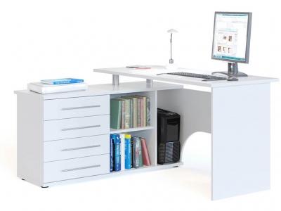 Компьютерный стол Сокол КСТ-109 левый Белый
