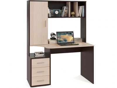 Компьютерный стол Сокол КСТ-16 Венге/Беленый дуб