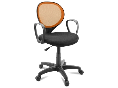 Компьютерное кресло Dikline KD30-14 ткань оранжевая/черная