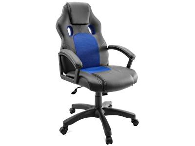 Компьютерное кресло Dikline KD34-13 к/з черный/синий