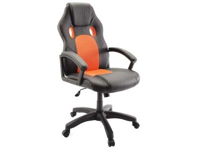 Компьютерное кресло Dikline KD34-14 к/з черный/оранжевый