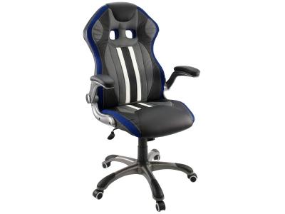 Компьютерное кресло Dikline KD37-13 (вставка синяя)