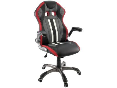 Компьютерное кресло Dikline KD37-15 (вставка красная)