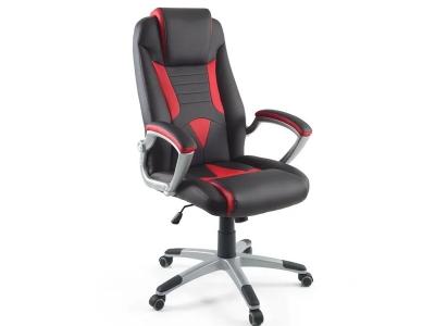 Компьютерное кресло Dikline KD38-31 люкс (вставка красная)