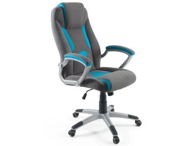 Компьютерное кресло Dikline KD38V-44-18 серый/голубой