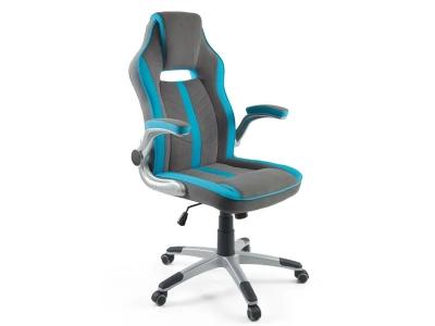 Компьютерное кресло Dikline KD39-44-18 серый/голубой