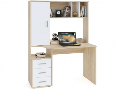 Компьютерный стол Сокол КСТ-16 Дуб Сонома/Белый