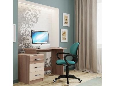 Компьютерный стол СВ-8 Ясень Шимо темный-светлый