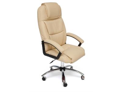 Кресло Bergamo хром + кож.зам Бежевый (36-34)