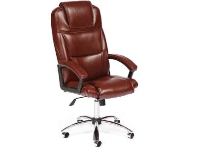 Кресло Bergamo хром + кож.зам Коричневый (2 Tone)